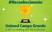 Unimed CG destaca-se entre os 50 maiores planos de saúde do Brasil