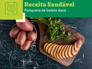 Receita Saudável: panqueca de batata doce
